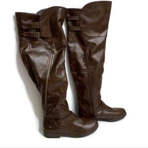 Bamboo Over the Knee Riding Boots